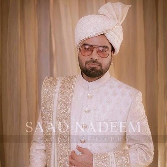 Yasir Hussain Groom look