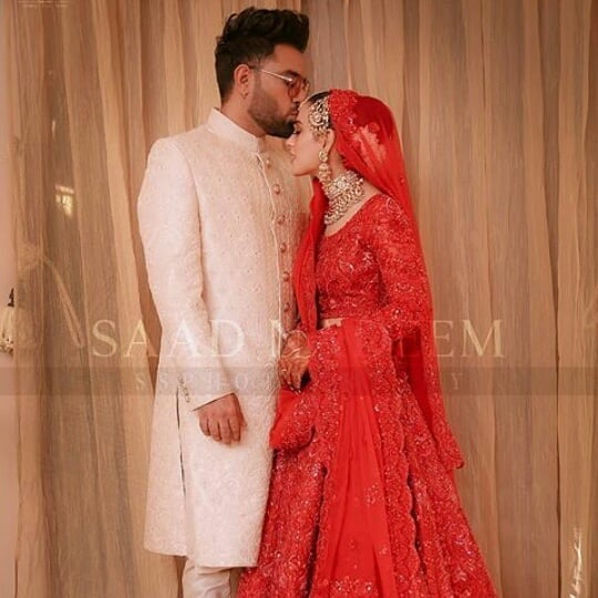 Iqra And Yasir on their wedding day