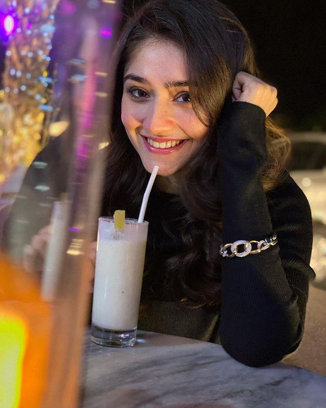 at her birthday dinner