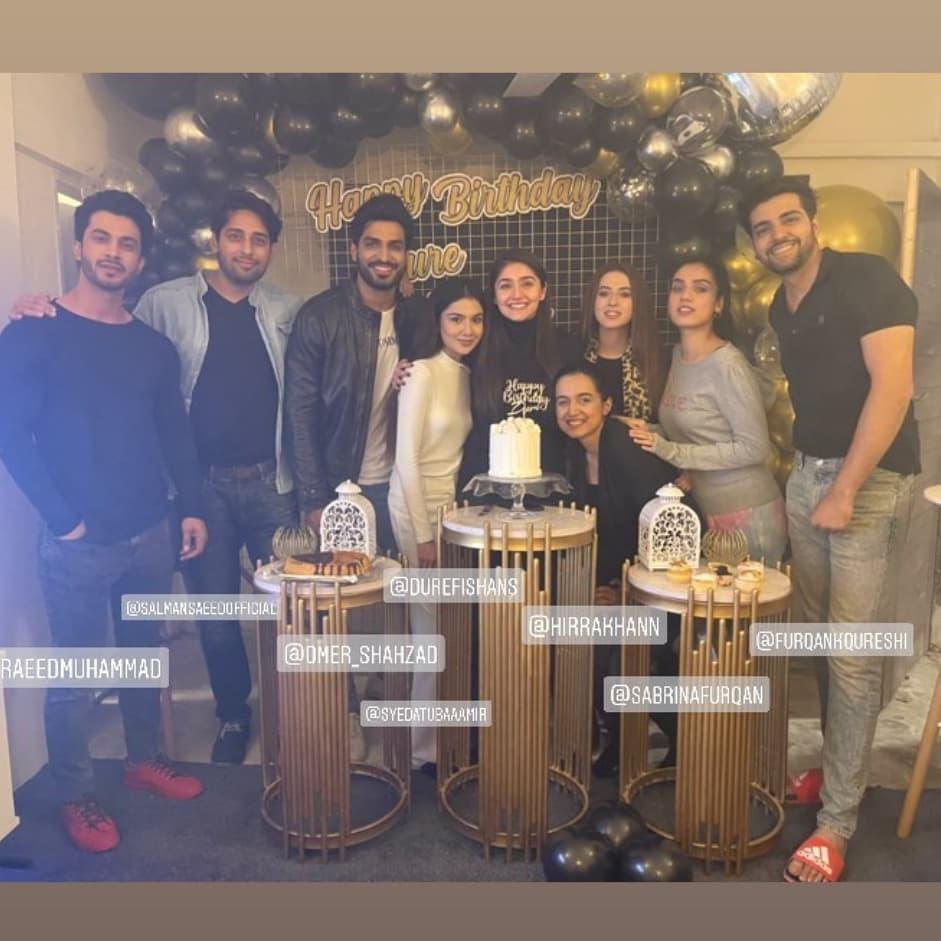 dram bharaas cast at dur e fishan birthday party