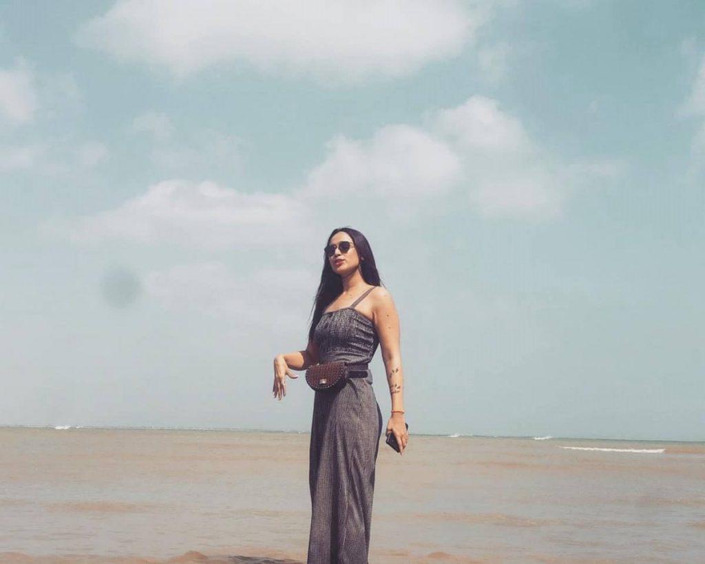 fayal mehmood on beach