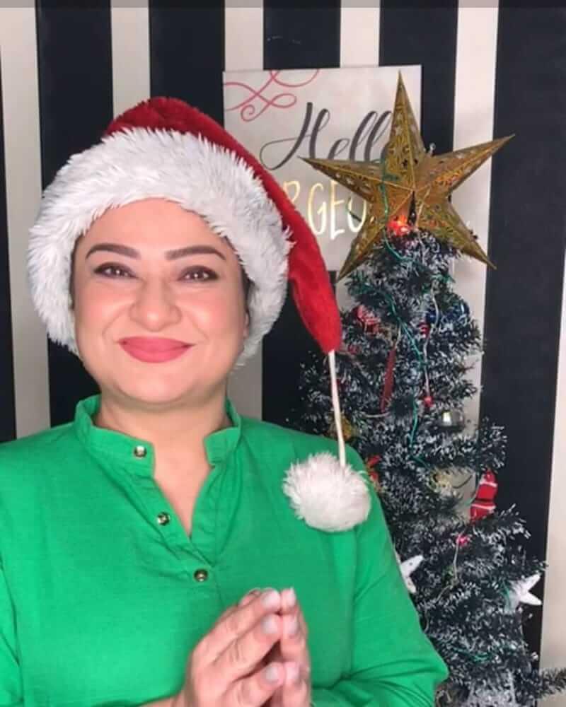 sania saeed on Christmas