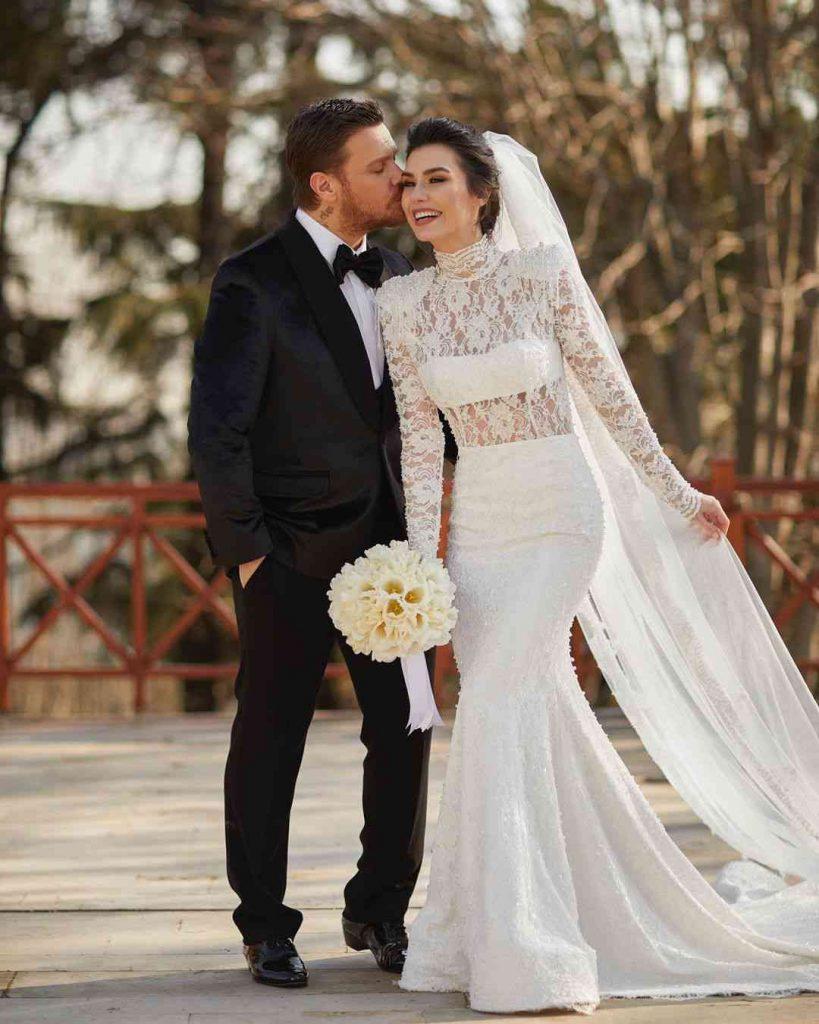 Burcu Kıratlı with her husband