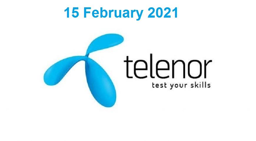 Telenor Quiz 15 Feb 2021