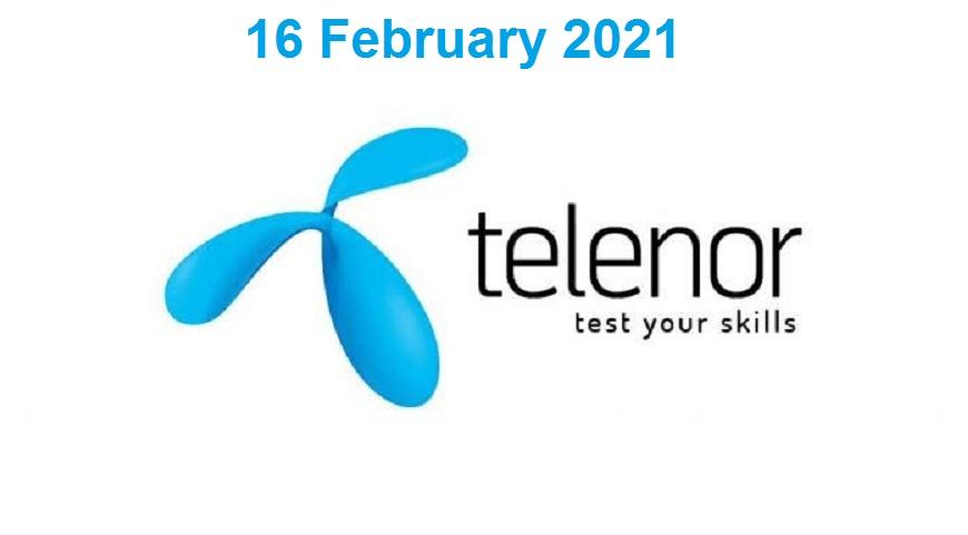 Telenor Quiz 16 February 2021