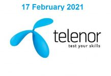 Telenor-Quiz-today-17-February-2021