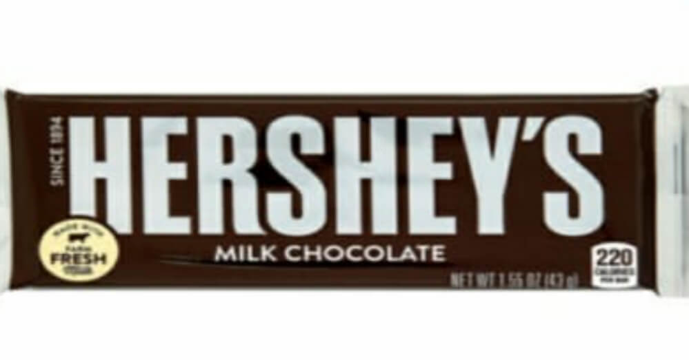 Which company introduced the first milk chocolate bar in the USA