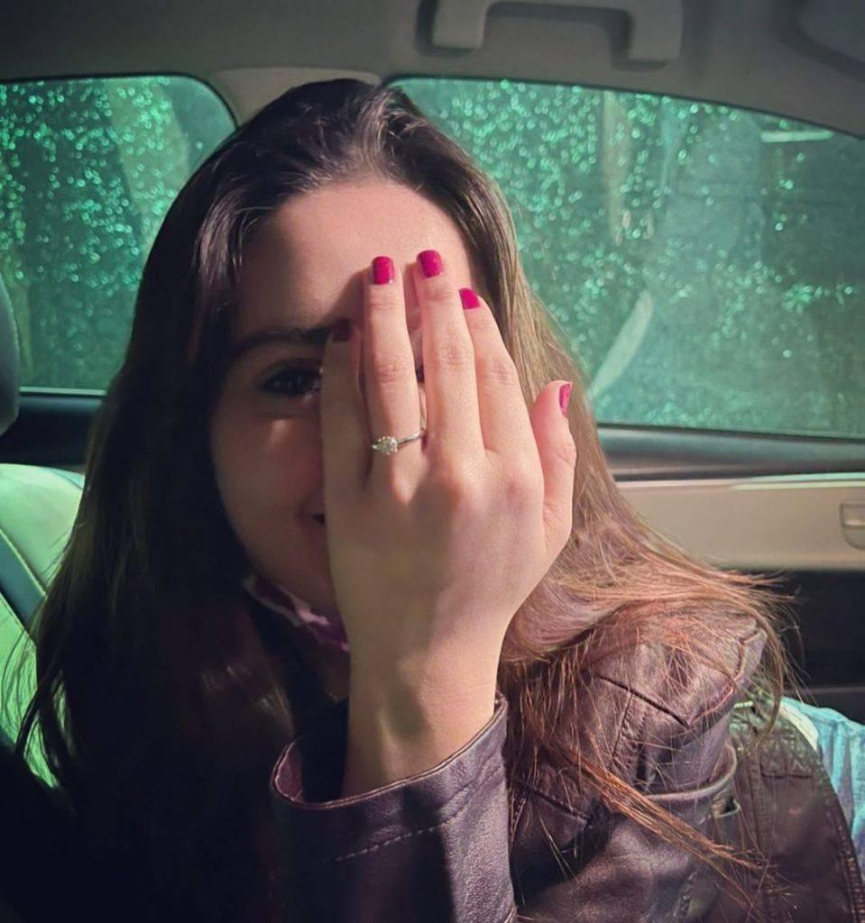 Minal Khan got engaged to Ahsan Mohsin on 14 February 2021.