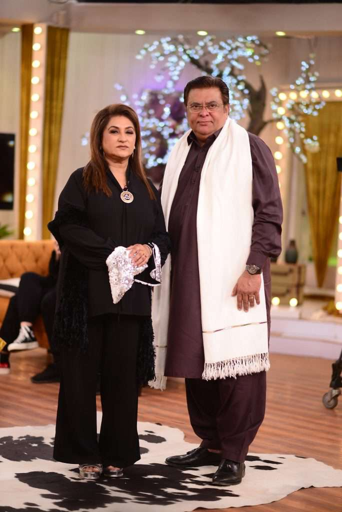 fareeda shabbir with her husband
