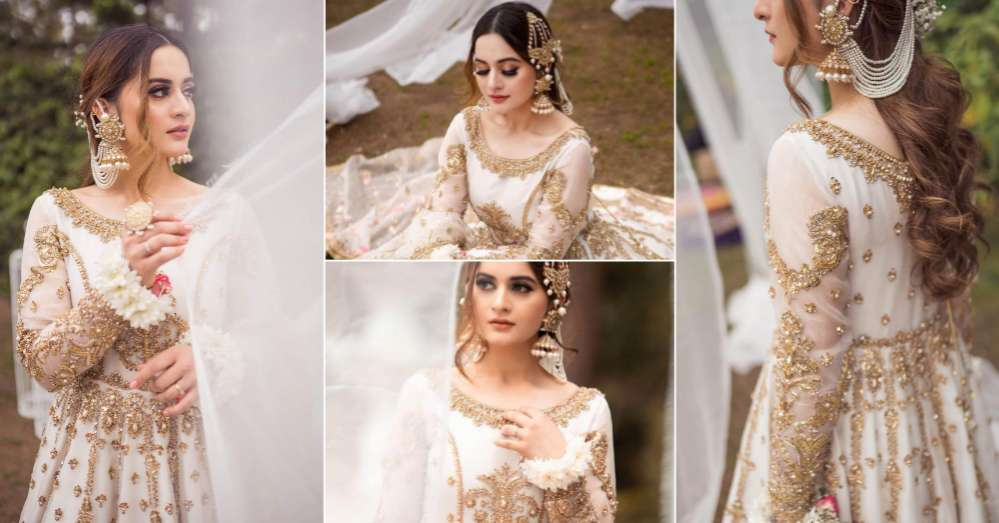 Aiman Khan Looks Stunning In Her Recent Bridal Photoshoot