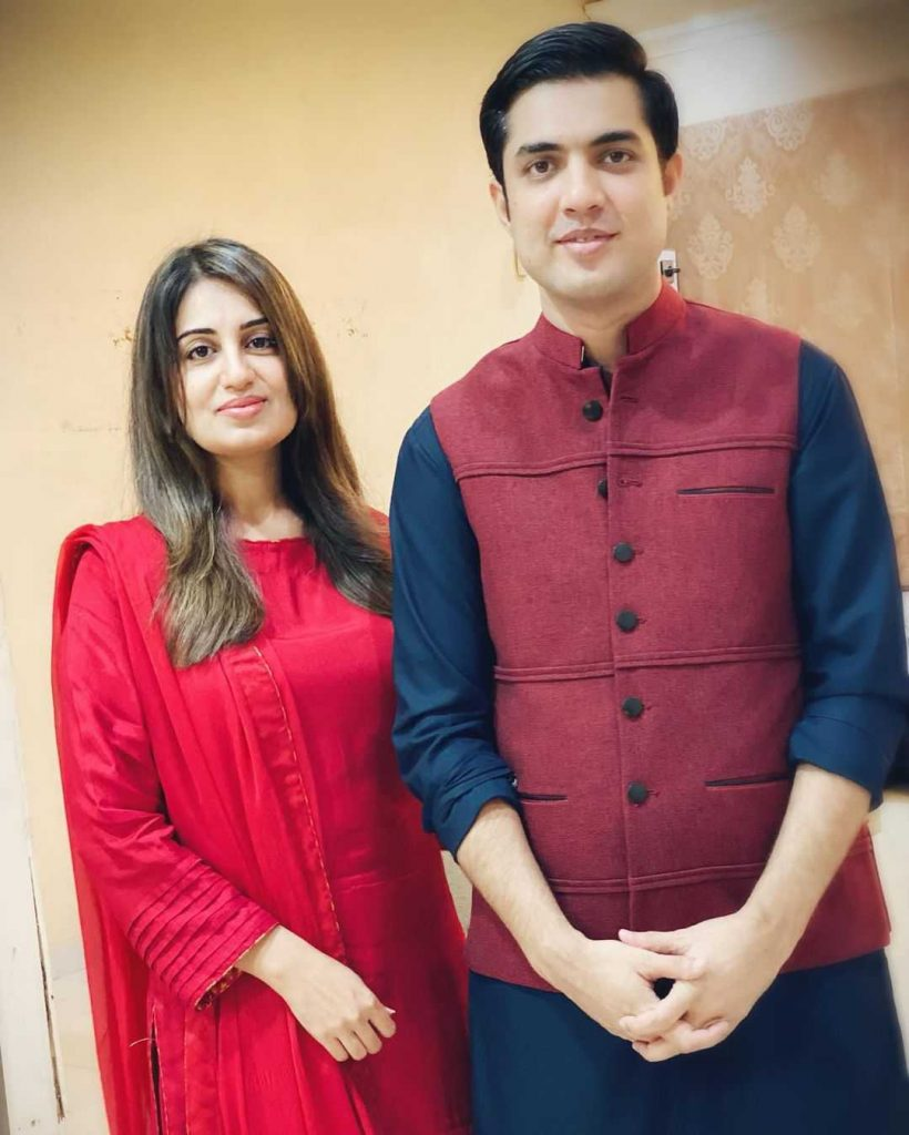 Farah Yousaf with her husband Iqrar Ul Hassan