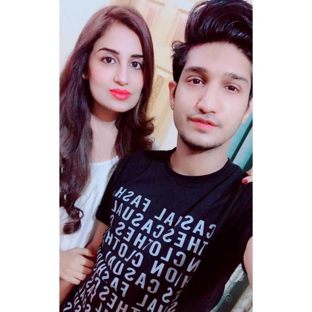 Farah Yousaf with her brother
