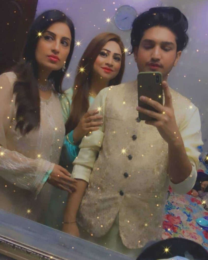 Farah Yousaf with her sisters