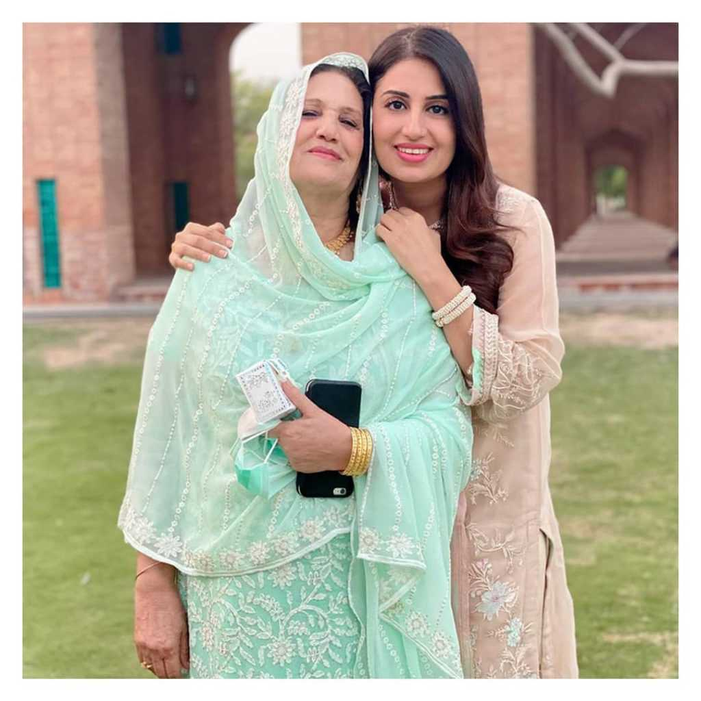Farah Yousaf with her mother
