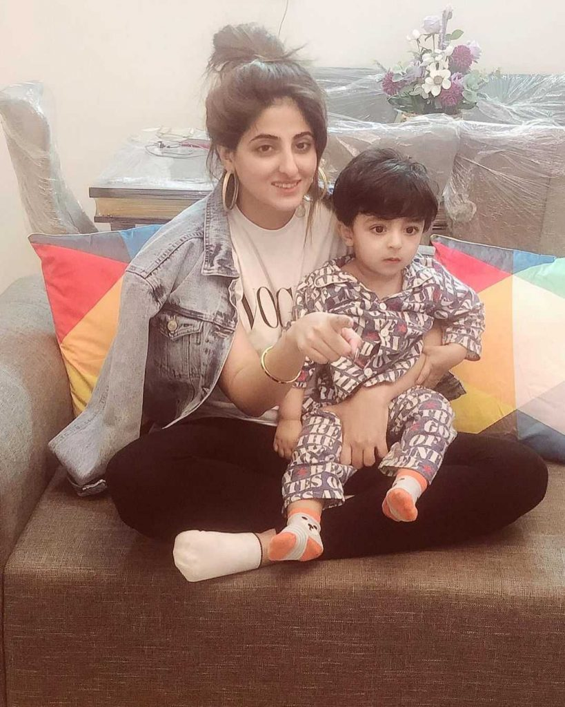 Fatmia Sohail with her Son