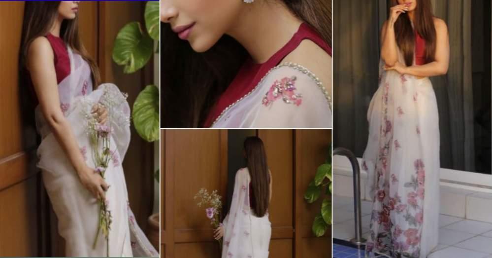 Sonya Hussayn Looks Marvelous In White Saree