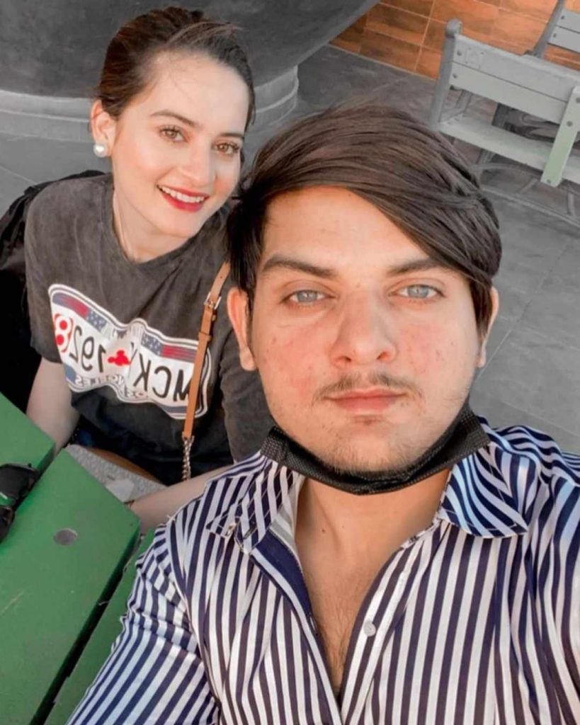 aiman khan with her brother