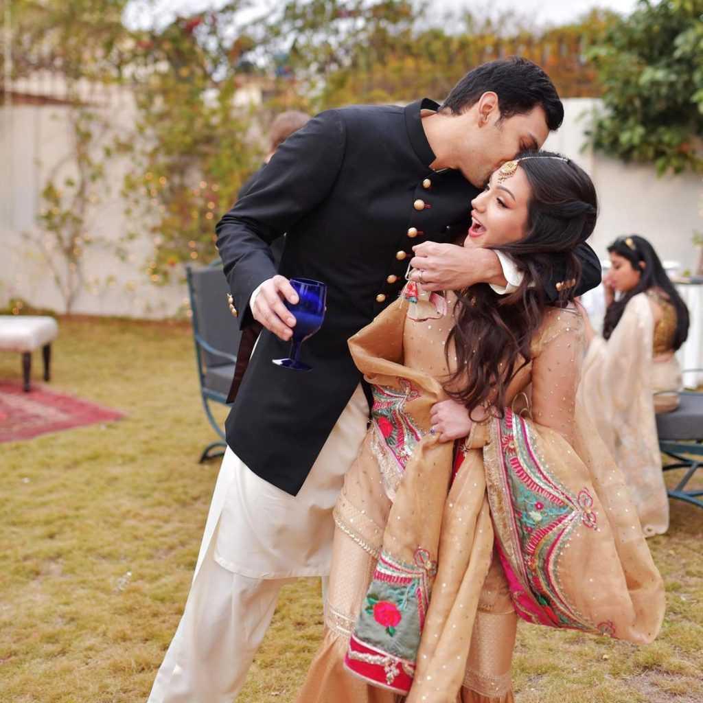 Aisha Linnea Akhtar with her second husband