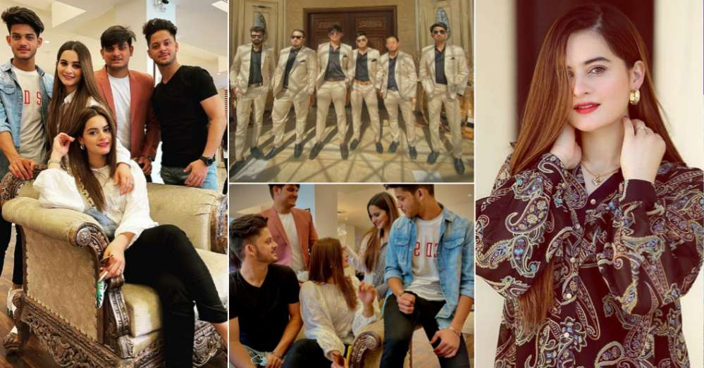 Beautiful Pictures of Aiman Khan with Her Brothers
