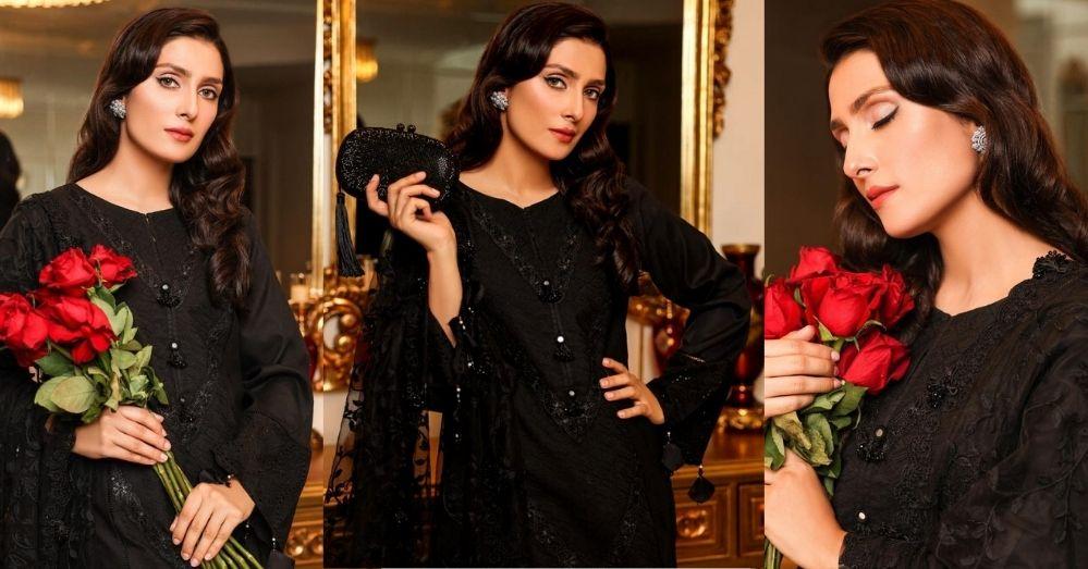 Chupke Chupke Actress Ayeza Khan Is Glowing In Black Outfit
