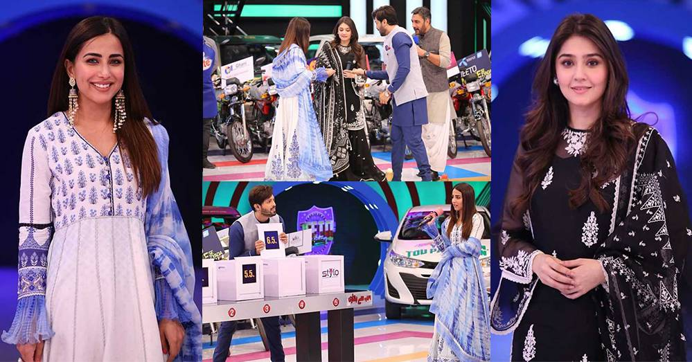 Dur-e-Fishan and Ushna Shah at Jeeto Pakistan Show