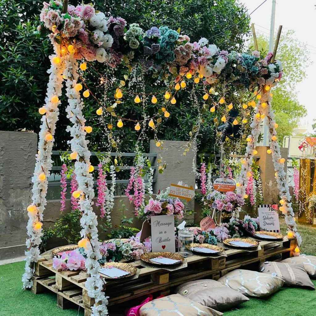 sanam Chaudhry in her friends bridal shower