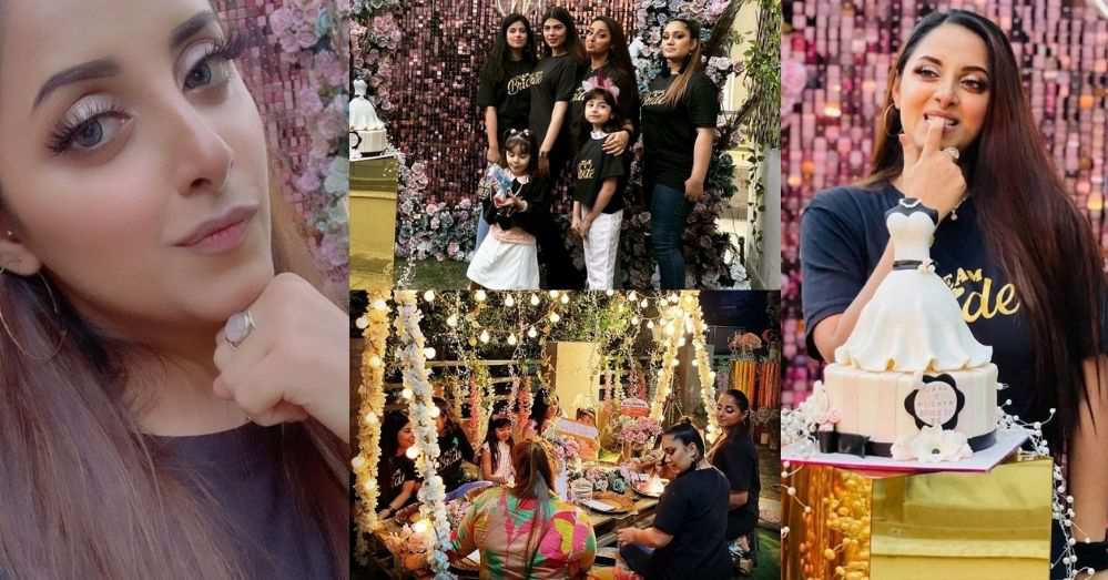 Latest Pictures of Sanam Chauhdry From Her Friend's Bridal Shower