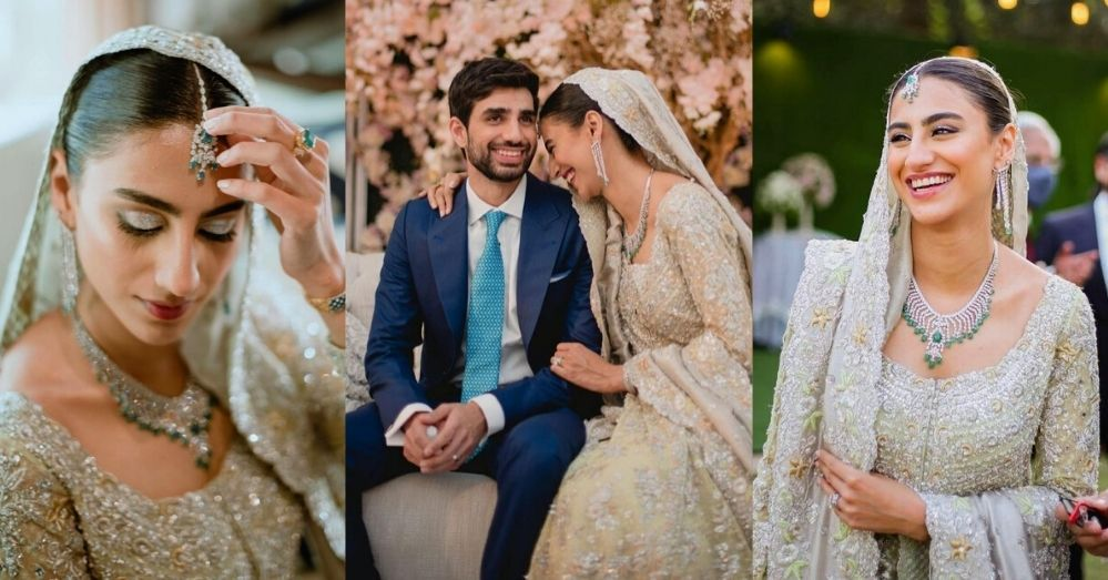 Rehmat Ajmal Walima Pics With Her Husband Tayyab Saleem