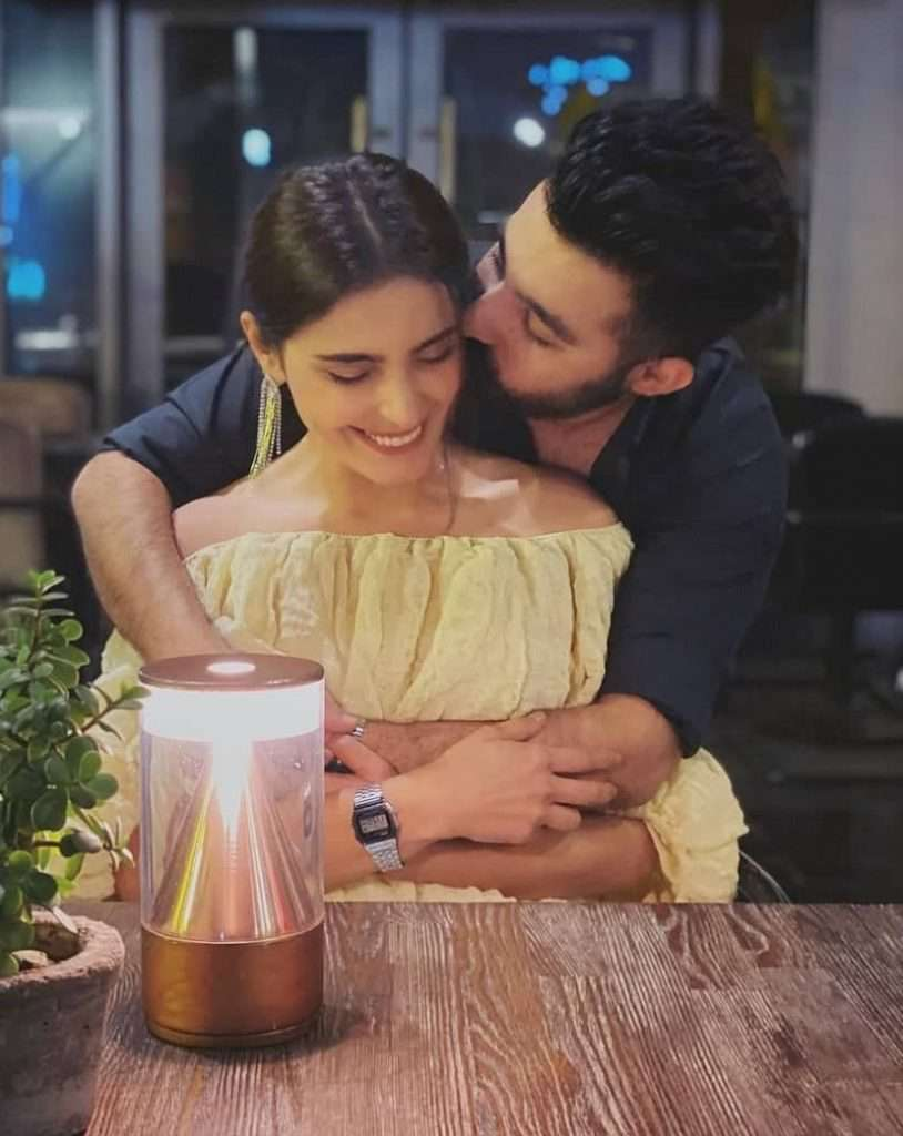 Sadia Ghaffar with Husband Hassan Hayat