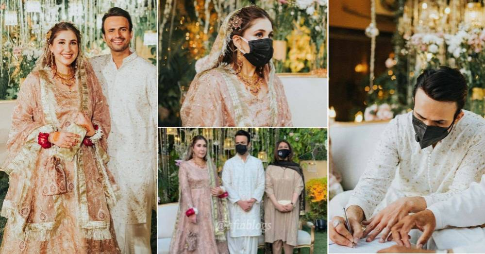Usman Mukhtar Wedding Photos with Wife Zunaira Inam Khan