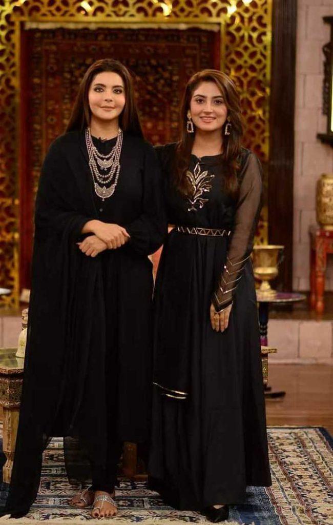 hiba bukhari with nida yasir