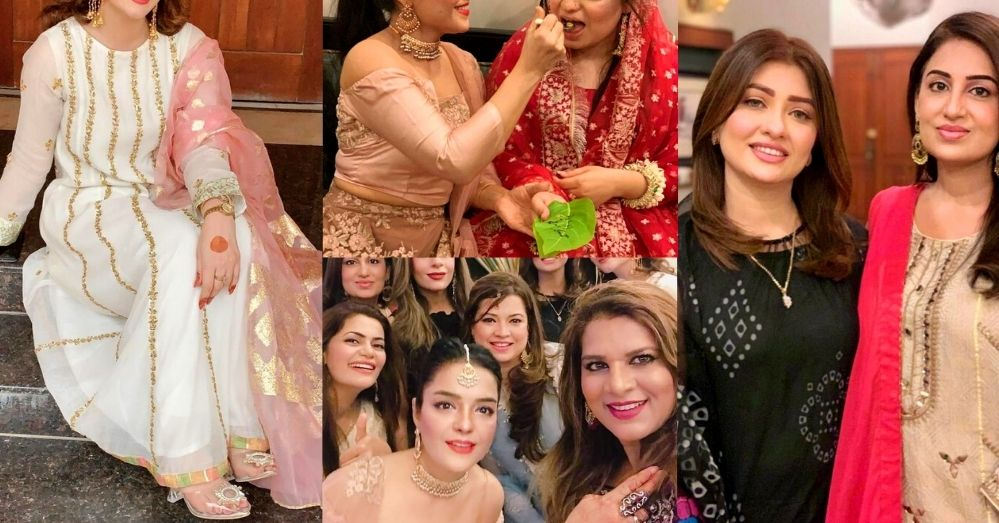 Adorable Clicks of Farah Iqrar From Her Friend's Bridal Shower