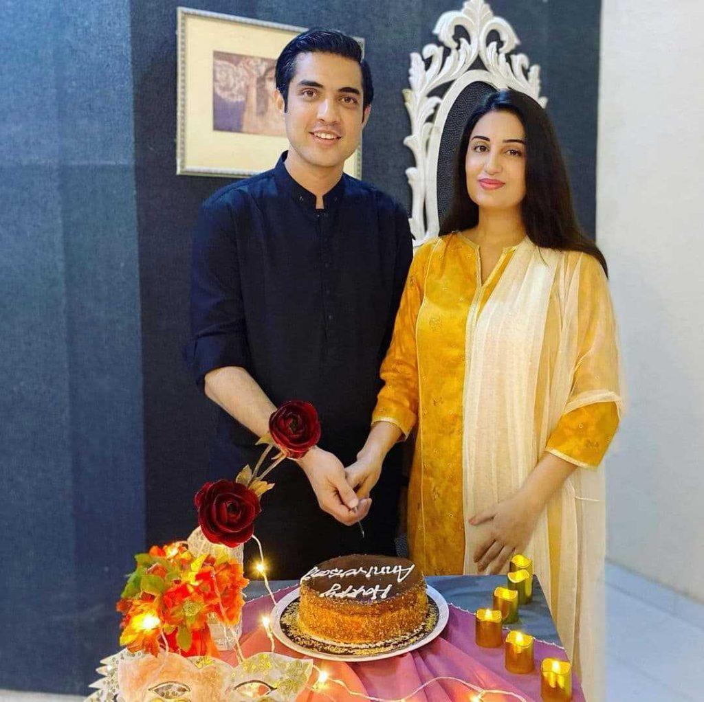 Farah Yousaf And Iqrar Ul Hassan Celebrate Their 9th Wedding Anniversary