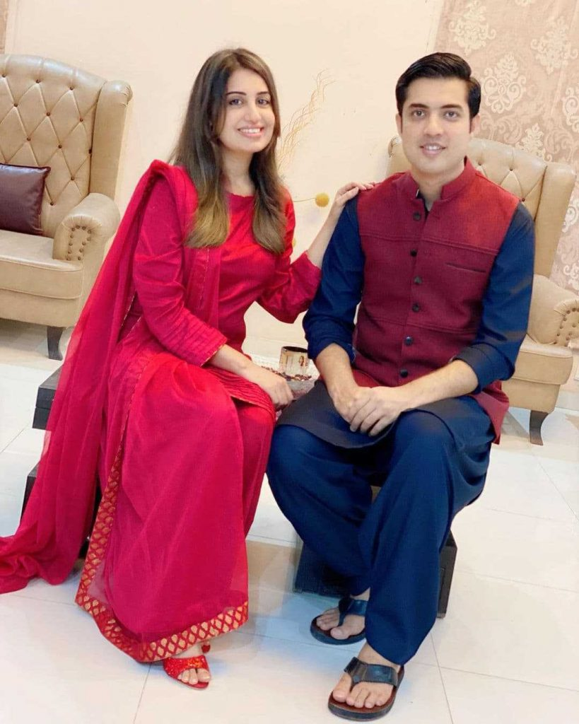 Farah Yousaf And Iqrar Ul Hassan Celebrate Their Wedding Anniversary (5)