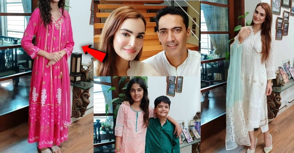 Nadia Hussain Stunning Eid Pictures With Her Family