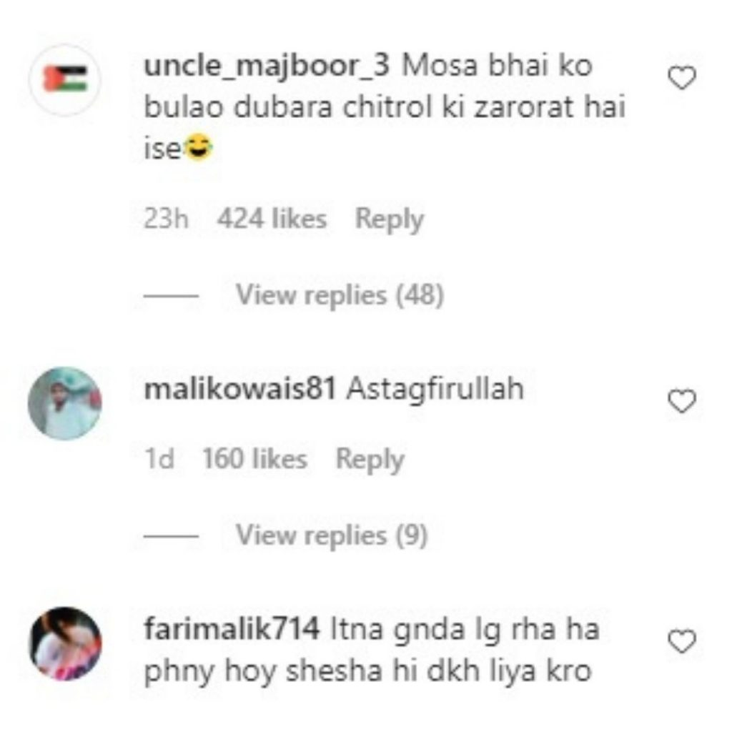 people reaction on Anoushay Abbasi bold look (1)