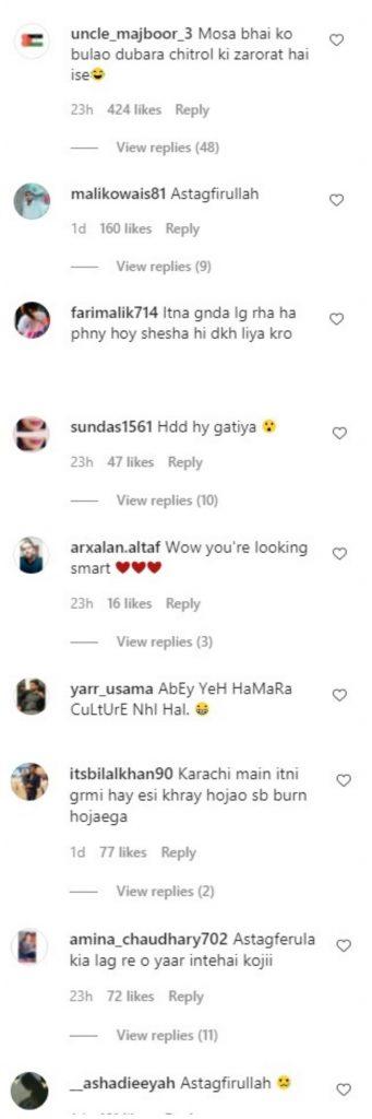 people reaction on Anoushay Abbasi bold look (4)