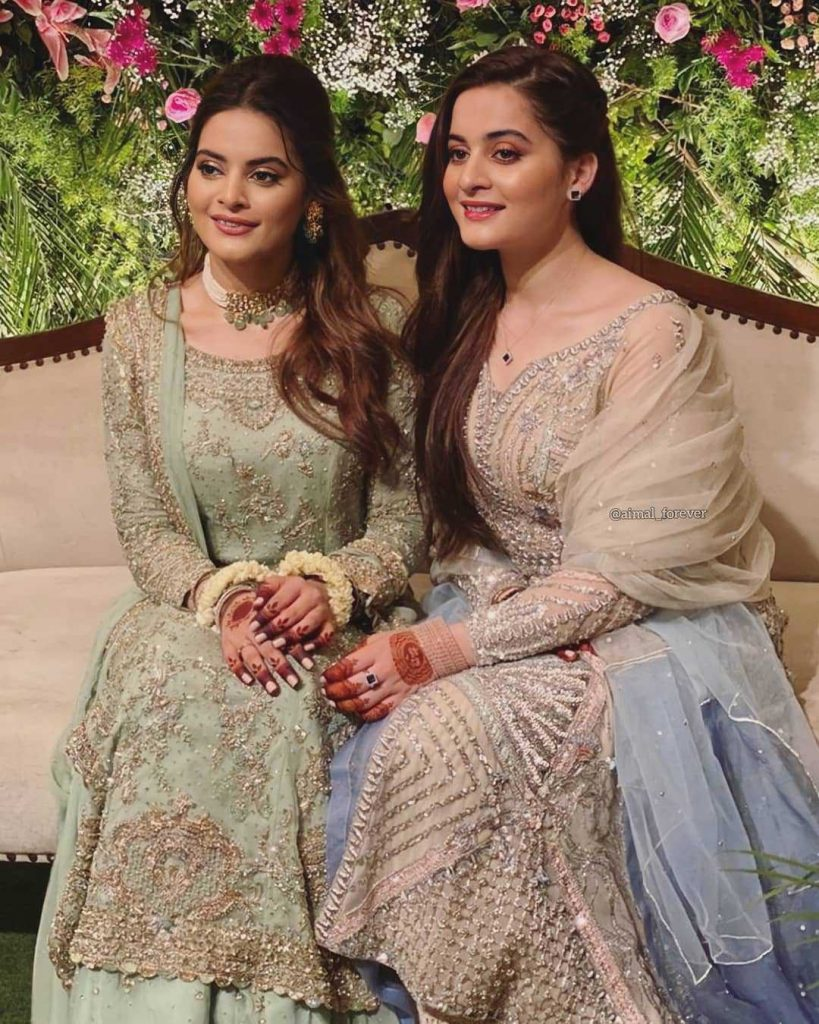ahsan-mohsin-ikram-wife-minal-khan-with-her-sister