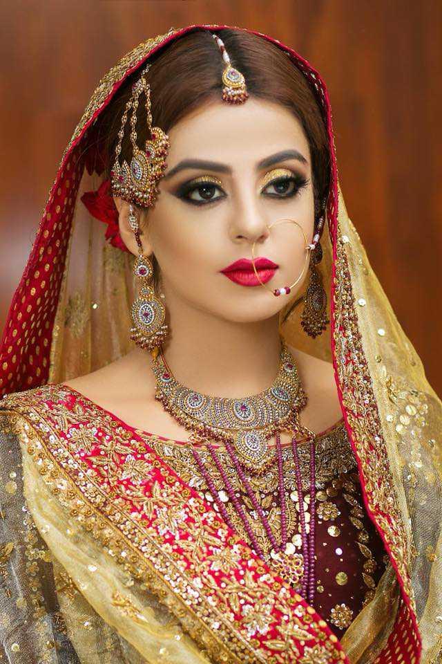 yahsma gill bridal look