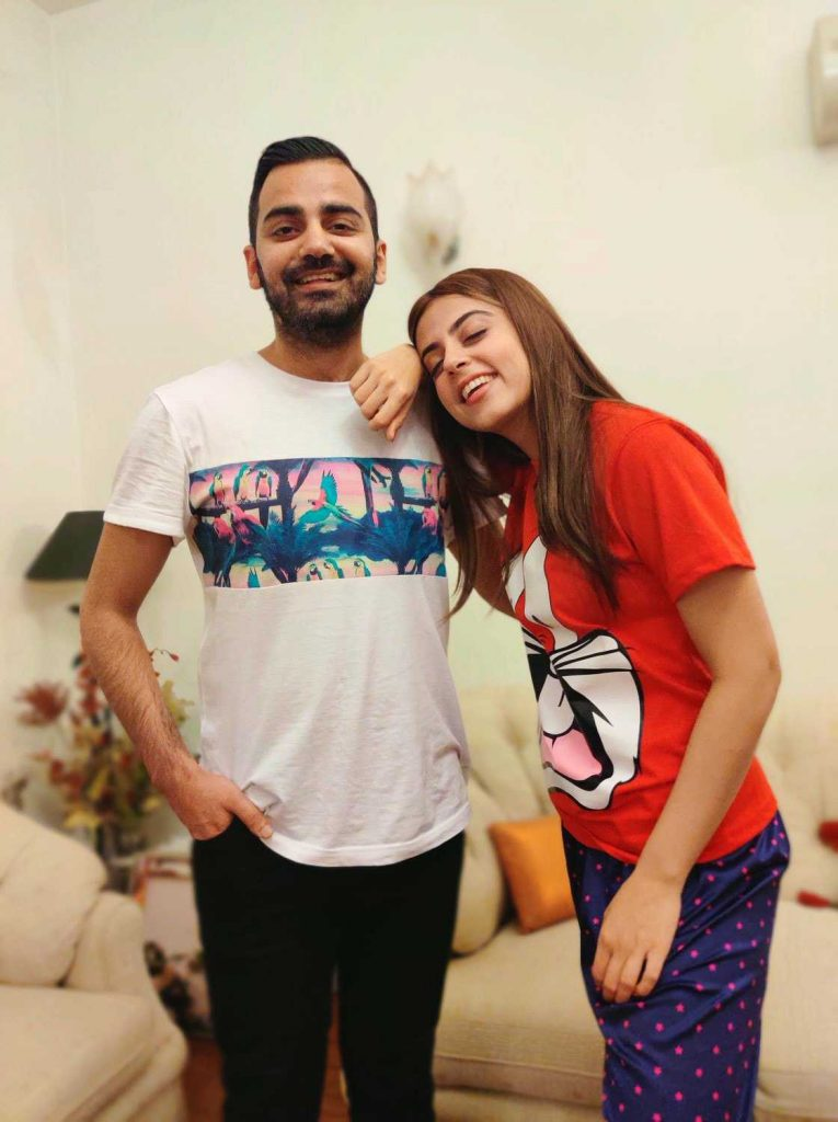 yashma gill with her brother shoaib gill