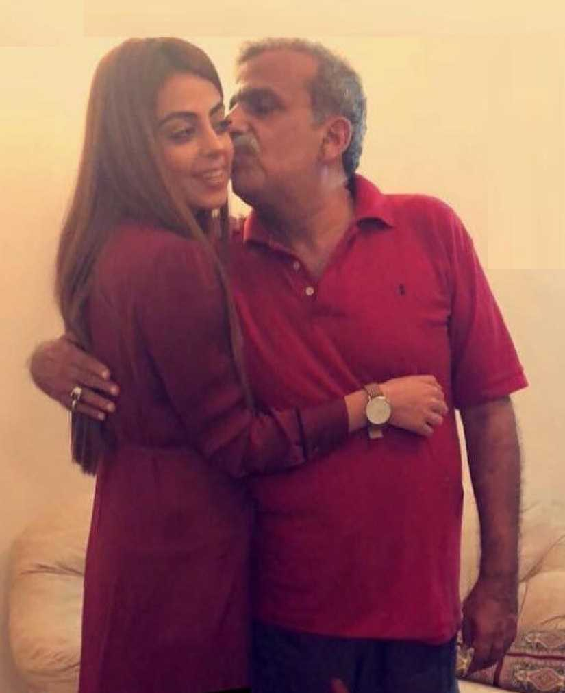 yashma gill with her father