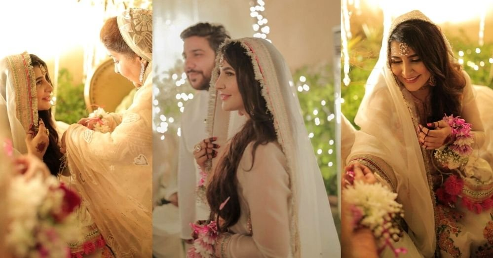 Areeba Habib Engagement Pictures with Husband Saadain Sheikh