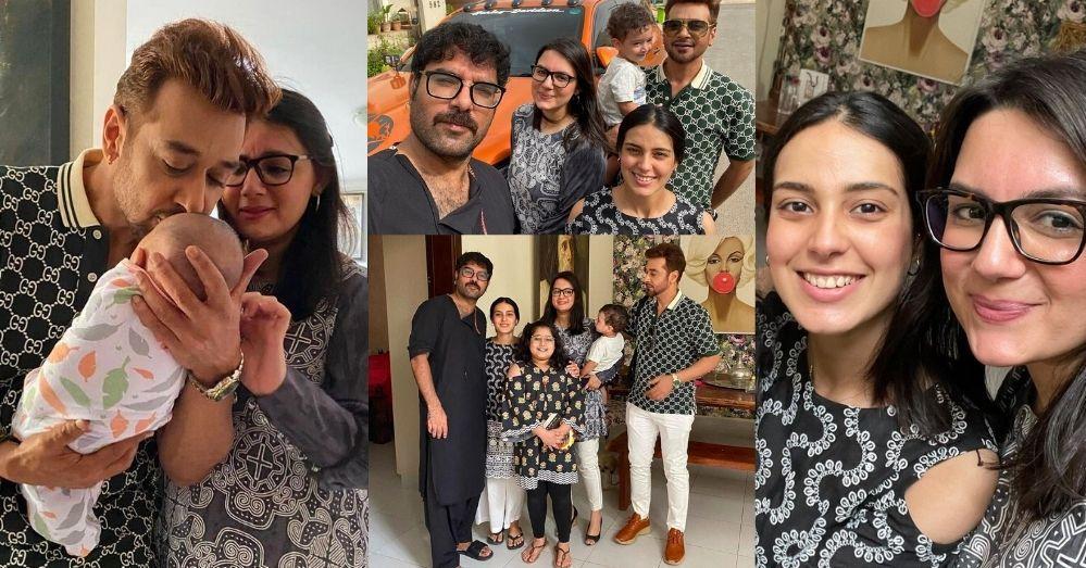 Faisal Qureshi visits Iqra Aziz's House to meet their Son Kabir Hussain
