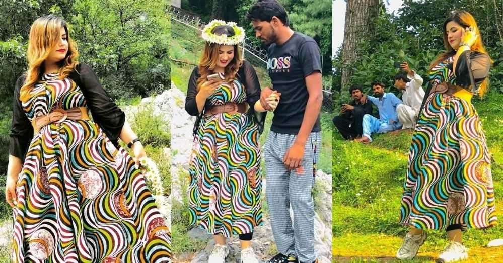 TikTok Star Ayesha Akram and Rambo Vacationing in Northern Areas of Pakistan