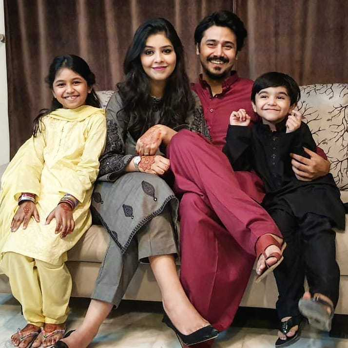 Ali Abbas with his family