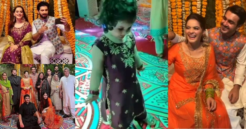 Grand Entry of Aiman Khan with Baby Amal at Minal Khan's Dholki Ceremony