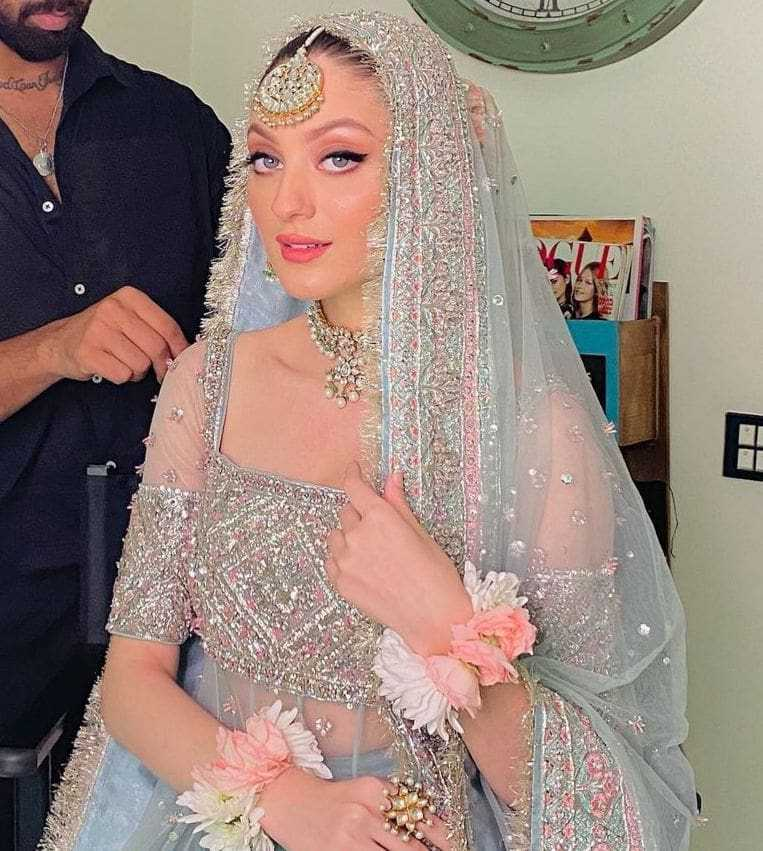 Neha Rajpoot And Shahbaz Taseer on theri wedding day