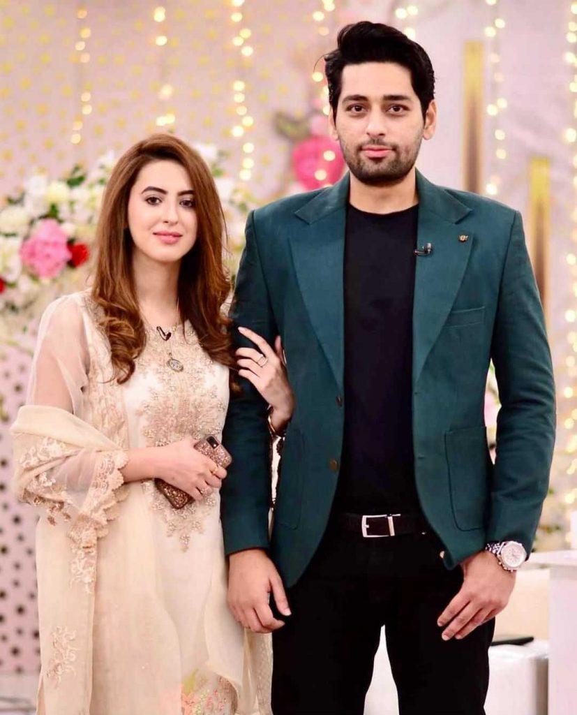 Salman Saeed with his wife alina salman