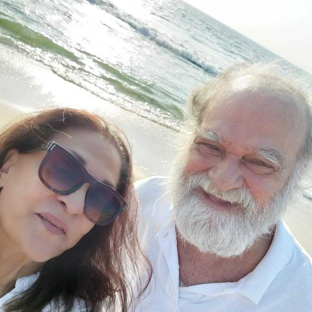 Samina Ahmed with husband Manzar Sehbai