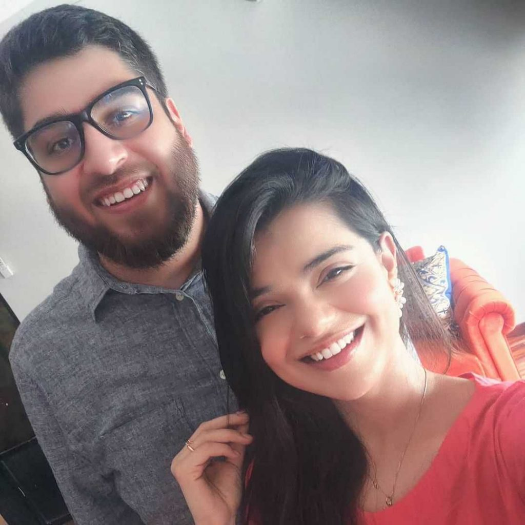 Srha Asghar with her husband